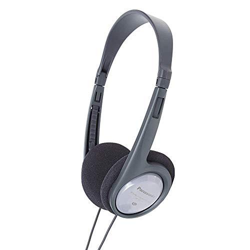 Panasonic RP-HT090 Cuffie a Padiglione Aperto, Leggere per Ottimo Comfort, Cavo da 5 m per Utilizzo con TV, Controllo Volume sul Cavo, Porta XBS, Altoparlante da 30 mm, Grigio/Silver