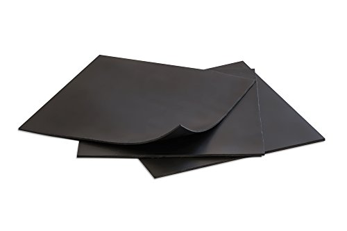 Rubber Sheets, Black, 6x6-Inch by 1/16 (Pack of 3) Neoprene, Plumbing, Gaskets DIY Material, Supports, Leveling, Sealing, Bumpers, Protection, Abrasion, Flooring