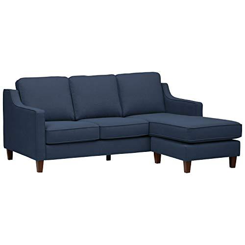 Amazon Brand – Stone & Beam Blaine Modern Sectional Sofa, 79.5'W, Navy Blue