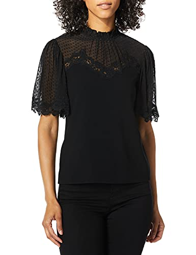 lace detailing cross chest scallop edge on sleeve 818742B949