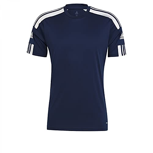 adidas Mens Jersey (Short Sleeve) Squad 21 JSY SS, Navblu/White, GN5724, L EU