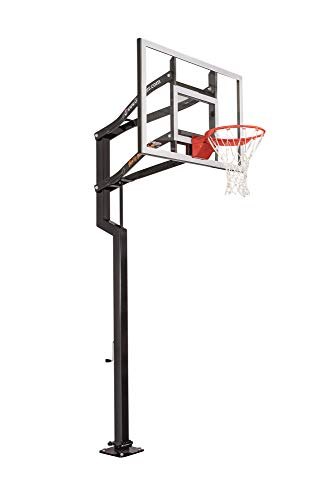 Goalsetter Contender In Ground Adjustable Basketball System with 54-Inch Glass Backboard and Flex Rim