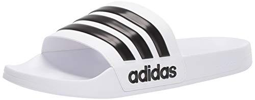 adidas Men's Adilette Shower Slide, White/Core Black/White,...