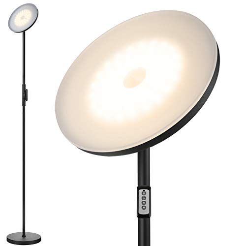 Floor Lamp,30W/2400LM Sky LED Modern Torchiere 3 Color...