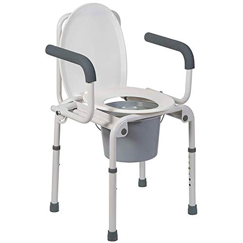DMI Portable Toilet, Deluxe Commode Chair, Drop Arm Commode...