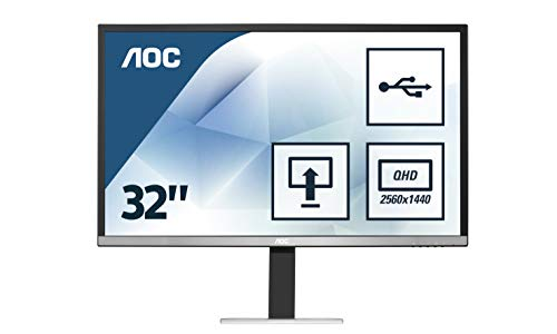 "AOC Q3277PQU Ecran LED IPS 32"" (2560x1440 , 16:9, 4ms)"