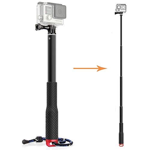 Tekcam perche à selfie télescopique en aluminium pour caméras étanches...