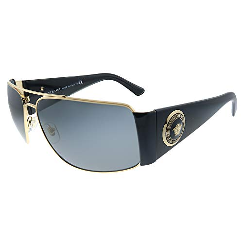 317BLmNUPuL Model: VE2163 | Color: 100287 Sunglasses GOLD w/ GREY Lens EyeSize 63mm/ Bridge 15mm/ Temple 135mm Made in Italy | Authorized Dealer | Buy With Confidence