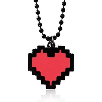 Feidiao Undertale Cosplay Prince's Determination en Forme de Coeur Collier Porte-clés Broche Badge Jeu Accessoires en métal Anime Personnage Accessoires (necklace2)