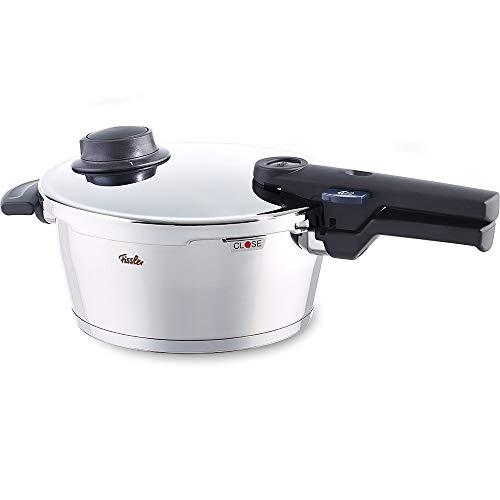 Fissler vitavit comfort / Olla a presin (2,5 litros,  18 cm) de acero inoxidable, 2 niveles de coccin, apta para cocinas de induccin, gas, vitrocermica y elctricas