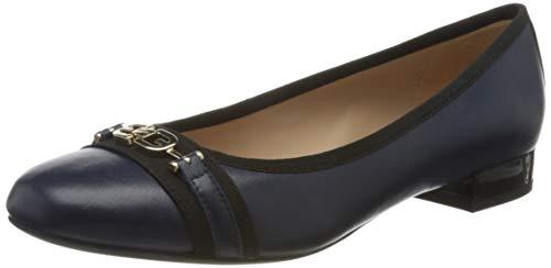 Geox D WISTREY D, Bailarinas Mujer, Azul (Blue/Black C0064), 39 EU