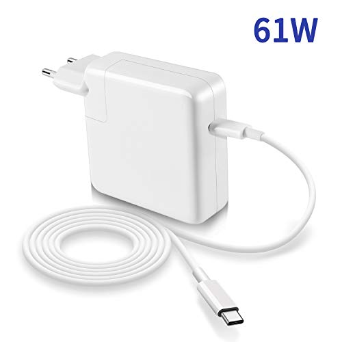 Adattatore 61W Compatibile con MacBook Pro/Air Caricatore USB C 13 pollici 2016 fine 2017 2018 2019,...