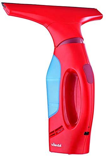 Vileda Windomatic Fenstersauger, mit flexiblem Kopf für streifenfreie Fenster, red