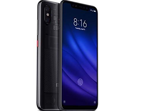 "Xiaomi Mi 8 Pro (128GB, 8GB RAM) with In-Screen Fingerprint Reader, Dual Camera's, 6.21"" AMOLED Display, Factory Unlocked - Global Version No Warranty (Transparent Titanium)"
