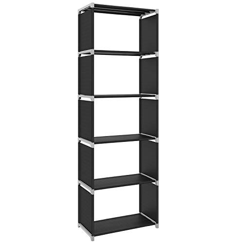 SONGMICS Scaffale 5 Cubi Aperti Armadio da Esposizione Libreria con Ripiani Aperti per Casa Studio...