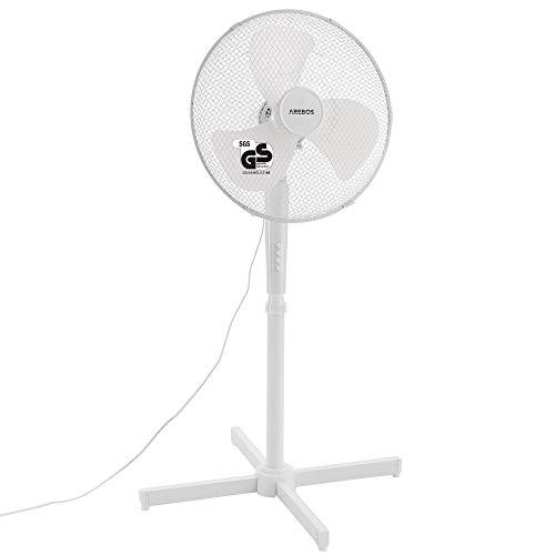 Standventilator 45W / 80° Oszillation / 3 Geschwindigkeitsstufen/in weiß