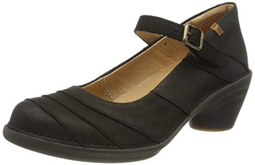 El Naturalista Aqua, Zapatos de tacón con Punta Cerrada para Mujer, Negro (Black/Black 000), 39 EU