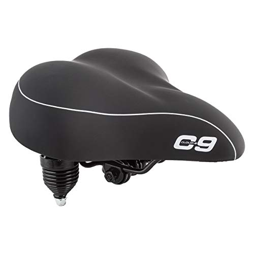 Cloud-9 Sunlite Bicycle Suspension Cruiser Saddle, Cruiser Gel, Tri-color Black