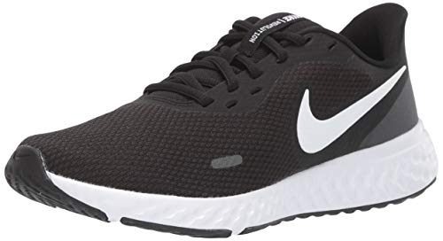 Nike Revolution 5, Running Shoe Mujer, Black White Anthracite, 38 EU