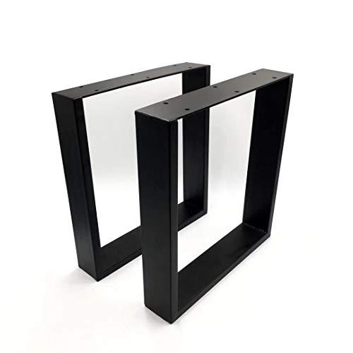 Ein Paar (2 Stück) Tischgestell Tischkufen Sitzbank Gestell Beine Couchtisch 43 x 40 cm Schwarz