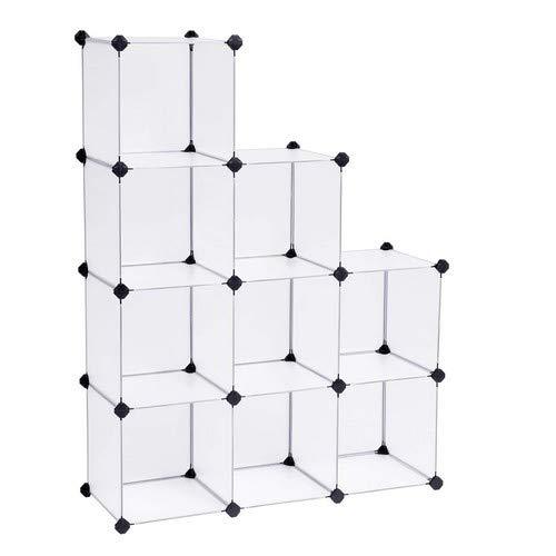 SONGMICS Armadietto Modulare, Guardaroba a 9 Cubi, Armadio Scaffale a Scompartimenti, 93 x 31 x 123...