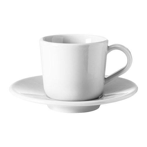 【IKEA/イケア】IKEA 365+ エスプレッソカップ&ソーサー, ホワイト