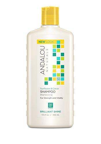 Andalou Naturals Sunflower & Citrus Brilliant Shine Shampoo, 11.5 Ounce