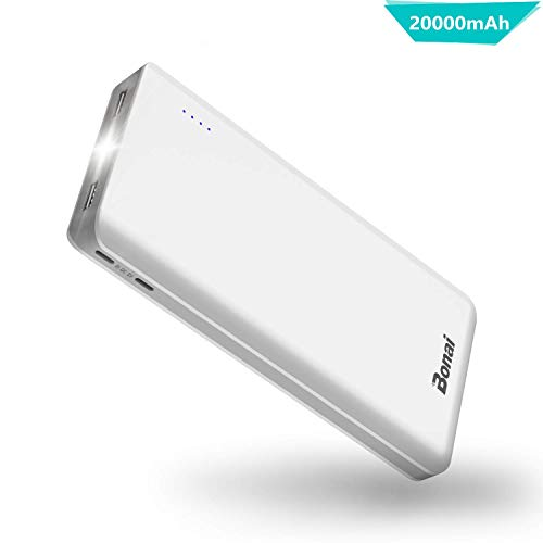 BONAI Power Bank 20000mAh Bateria Externa Movil 2 Mirco Entradas y 2...