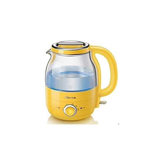 W-SHTAO L-WSWS Wasserkocher, Edelstahlkessel, 1200W, 1.2L Schnell Boiling Water Heater, Fahren Automatik Aus Schutz/Gelb Elektrischer Wasserkocher