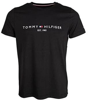 Tommy Hilfiger - T Shirts Men - Mens Clothes - Tommy Hilfiger Shirt - T Shirt - Men's Core Tommy Logo Tee - Jet Black - Size L