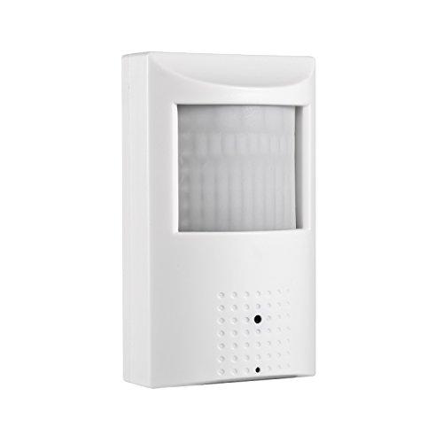 POE HD 3MP PIR Telecamera IP, Revotech H.265 1080P 2MP da Interno Invisibile 940nm 48 LED Pinhole Telecamera di sorveglianza Visione Notturna ONVIF P2P CCTV Cam con IR-Cut (IPIR-P Bianco)