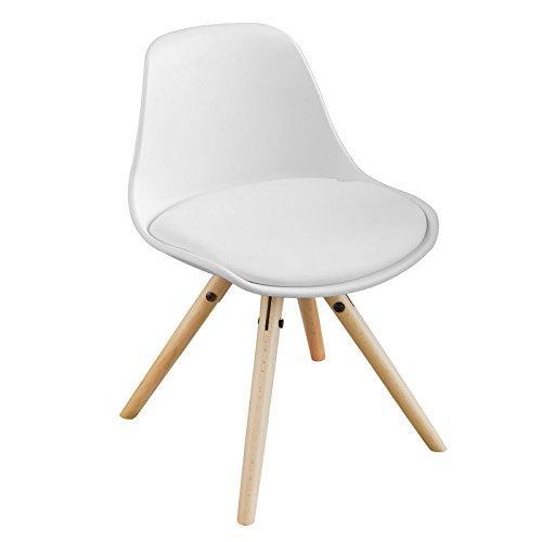 SoBuy FST46-W Kinderstuhl Stühlchen Sitzhocker weiß Sitzhöhe 35cm weiß