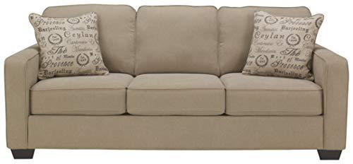 Signature Design by Ashley - Alenya Microfiber Upholstery Sofa w/ 2 Throw Pillows, Quartz