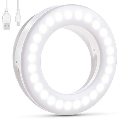 Diyife Anillo de luz Selfie,[Versión Mejorada] 40 LED USB...