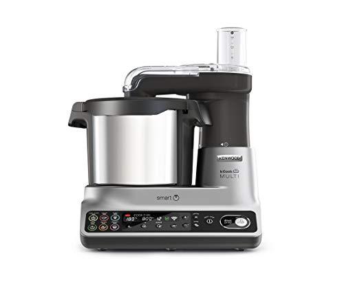 Kenwood kCook Multi Smart CCL450SI Robot de Cocina Multifunción con Wifi Controlable con una App desde el Móvil, con +600 Recetas Gratuitas, Balanza integrada, 1500 W, Capacidad 4,5L