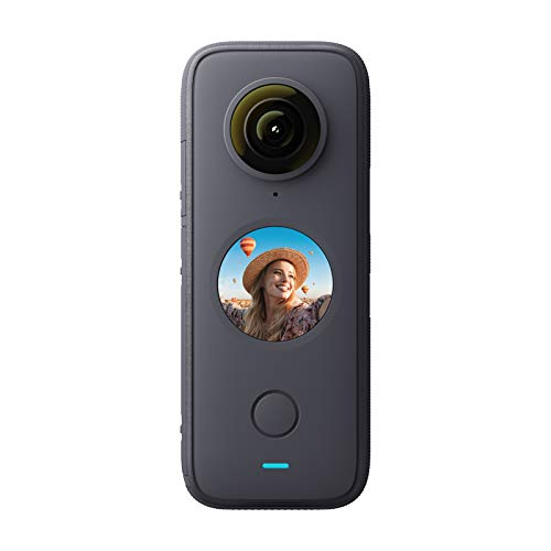 ONE X2 Panoramic Action Camera 5.7K 30fps LCD Touch Screen 10m Body Waterproof HDR APP Editing 360° Live Streaming TimeShift Support Bullet Time with Rechargeable 1630mAh Battery