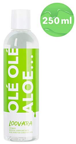 Loovara Olé Olé Aloe – Gleitgel mit Aloe Vera   für sensible Haut   ph-optimiert, dermatologisch getestet   nur natürliche Inhaltsstoffe   auf Wasserbasis, pflegt und schützt die weibliche Intimflora