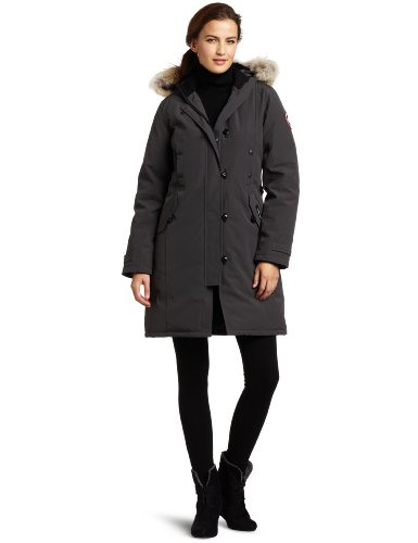 318oEhj6osL Duck down-filled parka coat featuring snap-through chest pockets, flap pockets at hips, and storm placket with toggle closures Adjustable exterior straps Fleece-lined down hood with removable coyote-fur ruff