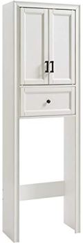 Crosley Furniture Tara Space Saver Bathroom Cabinet, Vintage White