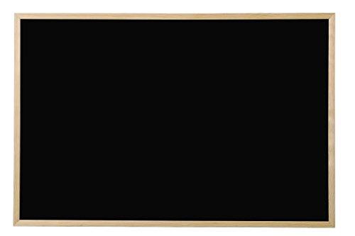 Bi-Office Lavagna Nera Per Gesso Basic, Cornice di Pino, 80 x 60 cm