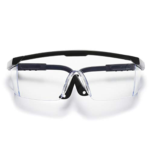 VANLINKER Safety Glasses for Work with Anti Fog Scratch Resistant for Woodworking, Adjustable, No-Slip Grips VL9526