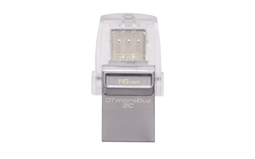 Kingston MicroDuo 3c Flash USB 3.0, 16GB, Nero
