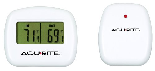 AcuRite 00782A2 Wireless Indoor/Outdoor Thermometer, Temperature,White