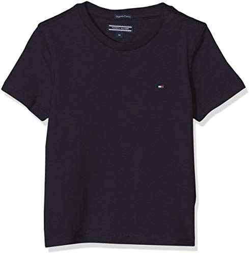 Tommy Hilfiger Boys Basic CN Knit S/s Maglietta, Blu (Sky Captain 420), 152 (Taglia Produttore: 12) Bambino