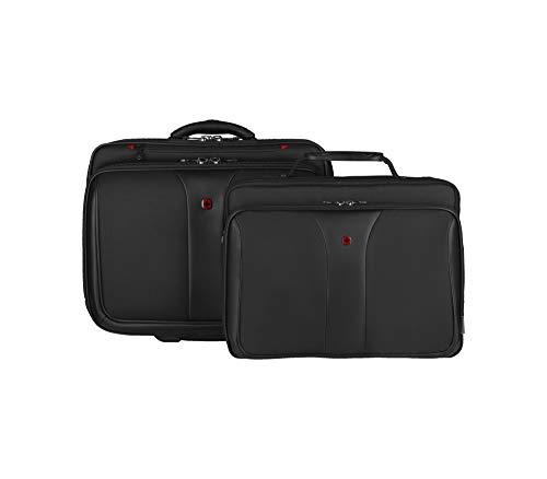 Wenger Patriot Set da 2 borse per portatile di 15.4' con Comp-U-Roller, Nero