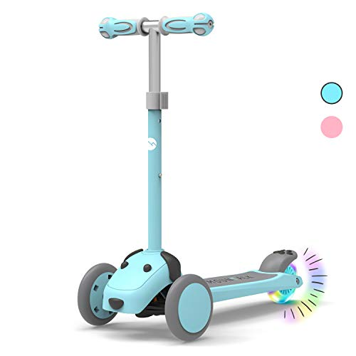 Mountalk 3 Wheel Scooters for Kids, Kick Scooter for Toddlers 2-6 Years Old, Boys and Girls Scooter with Light Up Wheels, Mini Scooter for Children, for Ride On Toys,Blue