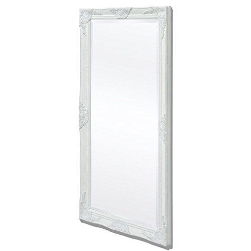 vidaXL Espejo de Pared Estilo Barroco 120x60 cm Blanco Espejo Vintage Retro