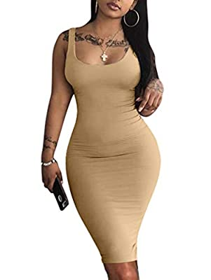 Material: 10% Spandex and 90% Polyester strech fabric lightweight breathable Features sleeveless,tank,knee length,racer back,bodycon,package hip,solid color Very stretchy fabric make you more comfortable Occasions: party, wedding, prom, cocktail, eve...