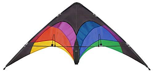 Wolkenstürmer Flip Lenkdrachen Regenbogen - 2-Leiner Stablenkdrachen für Kinder