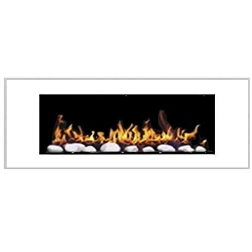 Gel and Ethanol Wall Fireplace – Elegant Design – 1000 and One Night (High Gloss White)
